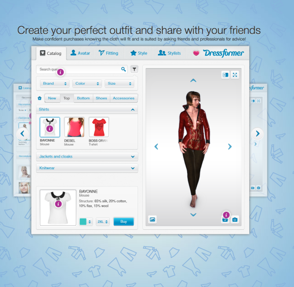Dressformer  virtual fitting room
